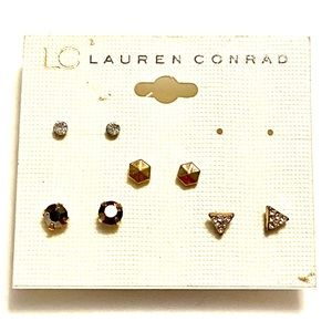 Lauren Conrad Stud Earrings SET